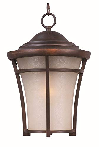 - Maxim 3809LACO Balboa DC 1-Light Large Outdoor Hanging, Copper Oxide Finish, Lace Glass, MB Incandescent Incandescent Bulb , 13W Max., Wet Safety Rating, Shade Material, 900 Rated Lumens