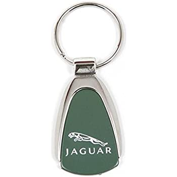 Jaguar Keychain & Keyring - Green Teardrop