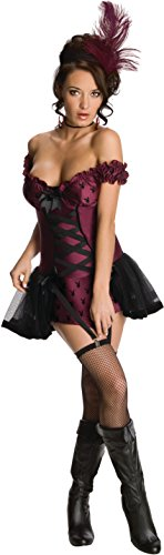 Secret Wishes Womens Playboy Cabaret Costume, Purple,