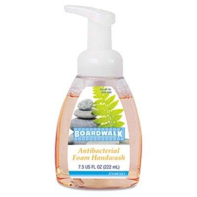 Boardwalkamp;reg; - Antibacterial Foam Hand Soap, Fruity, 7.5 oz Pump Bottle, 6 per Carton - Sold As 1 Carton - Kills germs on hands while providing a rich, luxurious lather. -