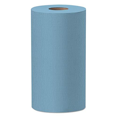 WypAll 35411 X60 Cloths, Small Roll, 9 4/5 x 13 2/5, Blue, 130 per Roll (Case of 12 Rolls)