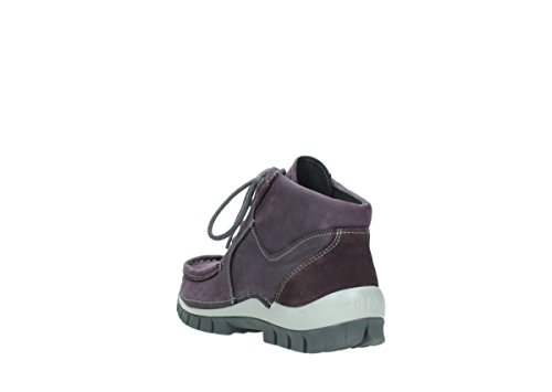 Chaussures Wolky À Comfort 10600 Up Cross Nubuck Violet Seamy Lacets 5xxHwr