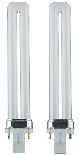 10 Pack Sunlite PL13//SP30K//10PK 2-Pin Fluorescent 13W 3000K Warm White U Shaped PL CFL Twin Tube Plugin Light Bulbs with GX23 Base
