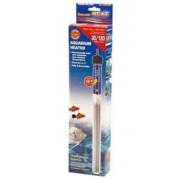 "Cascade Heat 10"" Aquarium Heater 150 Watt for 30 Gallon Tanks"