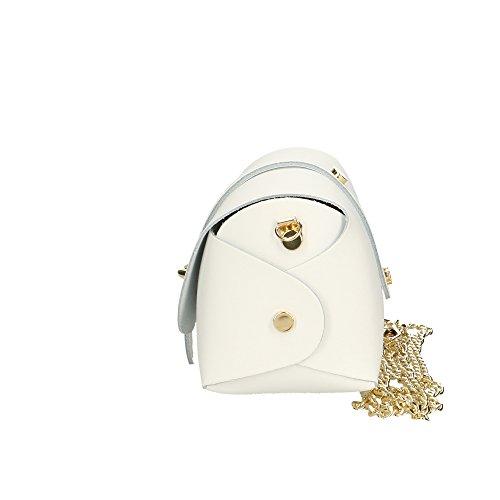 femme italie bandoulière petite fabriqué sac pour véritable Aren en en cuir à Cm Blanc 18x11x9 g1XpwHHq
