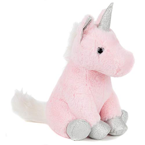 Lily's Home Cute Decorative Unicorn Weighted Interior Door Stopper, Compact with Soft Fabric Design (Door Hanger Plush)