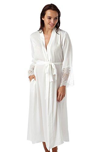 Da donna di lusso avorio pezzi Negligee e camicia da notte set. Misure 8 10 12 14 16 18 20