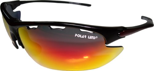 Polarlens S24 Sunglasses / Cycling Glasses / Multi Sport Sunglasses / Exchangeable Lenses for varying light conditions come in a cushioned carry case with belt loop by Polarlens