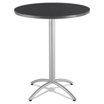 -- Cafeacute;Works Table, 36 dia x 42h, Graphite Granite/