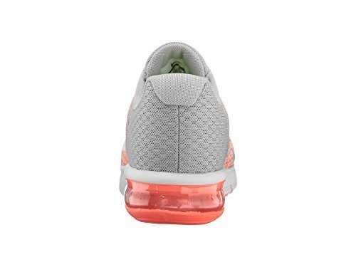 promo code 6471d f7dec Galleon - Nike Air Max Sequent 2 Wolf Grey White Bright Mango Sunset Glow Women s  Running Shoes