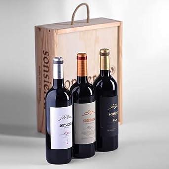 Estuche 3 botellas Sonsierra (Crianza, Reserva, Gran Reserva) 75cl, Rioja: Amazon.es: Alimentación y bebidas
