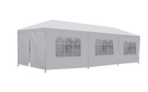 TStore Wedding Party Tent 10'x30' White Outdoor Gazebo Canopy 8 Removable Walls by TStore