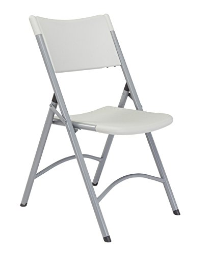 - (4 Pack) 600 Series Heavy Duty Plastic Folding Chair, Speckled Grey