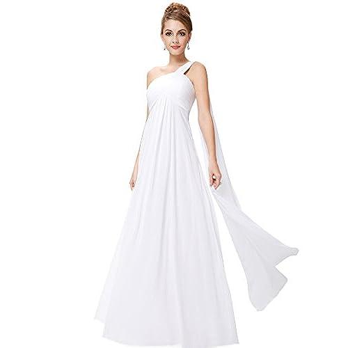 Ever Pretty Womens Formal Floor Length Military Ball Dress 12 US White