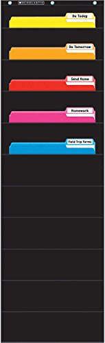 Scholastic Classroom Resources File Organizer Pocket Chart, Black (SC573276)