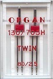Organ Sewing Machine Twin Needles Size 80/2.5 WILL FIT, Brother, Janome, Singer,Universal