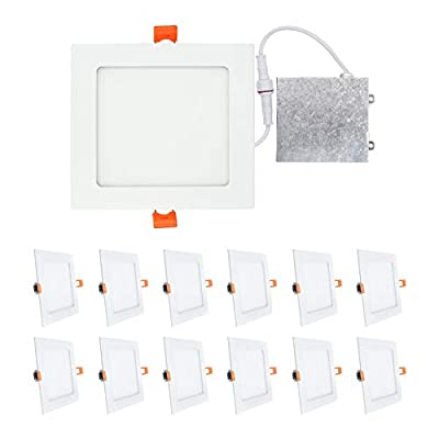 OSTWIN 6 inch LED Recessed LOW PROFILE SQUARE PANEL