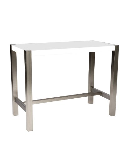 Moe s Home Collection 47 by 23 by 36-Inch Riva Counter Table, White