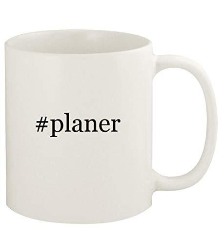 #planer - 11oz Hashtag Ceramic White Coffee Mug Cup, White
