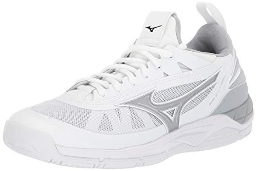 Mizuno Women's Wave Luminous Volleyball Shoe, white-silver, 10.5 B US