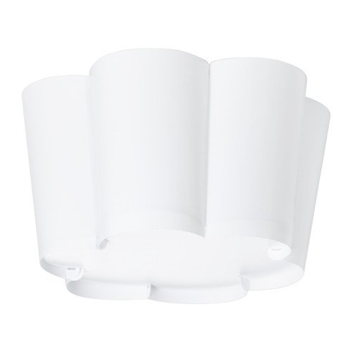 IKEA LYSBOJ - Lámpara de techo, color blanco: Amazon.es ...