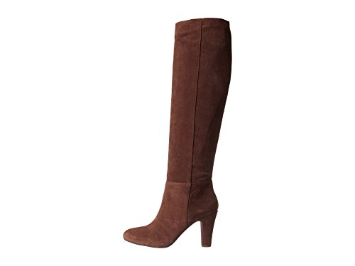 Jessica Simpson Dames Leer Lederen Gesloten Teen Knie Hoge Mode Laarzen Warme Chocolade Split Suède