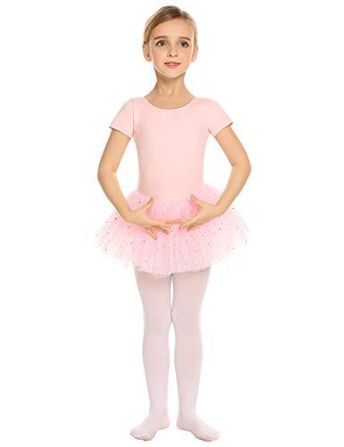 Arshiner Kids Girl's Short Sleeved Leotard Ballet Dance