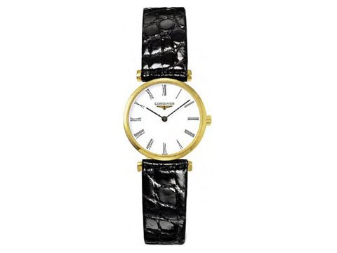Longines La Grande Classique Yellow Gold PVD Ladies Watch L4.209.2.11.2 (Longines Wrist Band Watch)