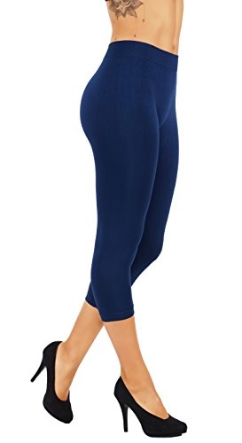 5StarsLine Casual Pants Wide Elastic Waistband Buttery Soft Leggings Light Weight Variety of Colors S-XL (L/XL USA 10-16, 5S82-6CP-NVY)