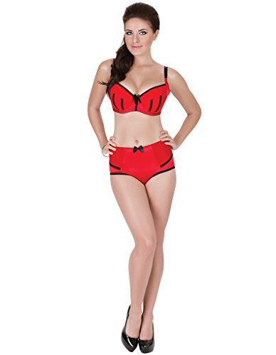Parfait Charlotte Gepolsterter BH in Rot und Schwarz 6901 30JJ UK(65 EU) kfs9gg15uI