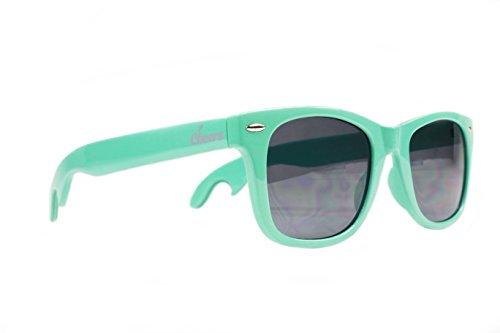 Cheers Bottle Opener Sunglasses (Teal) - Great White Elephant Gift for Men - Stocking Stuffer - Bridesmaids Gift -