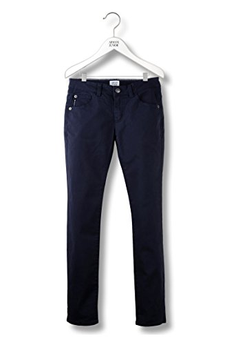 Armani Junior 5-Pocket Trousers in Stretch Cotton, Blue, Size: 13A