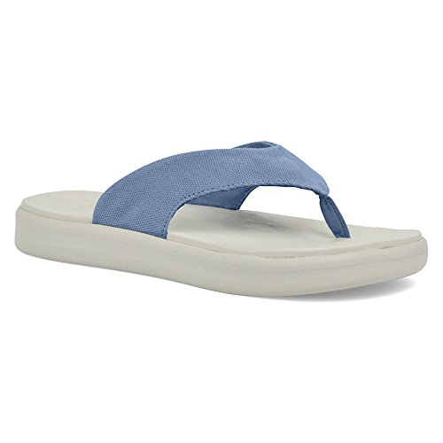Flip Flop In Skiff Canvas Softscience Unisex Azzurro
