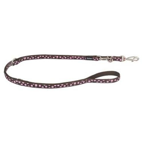 Red Dingo Pink Spots Brown multi-purpose dog leash 6,5ft XS