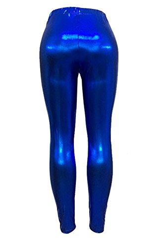 Blau Slim Sintetica Leggins Eleganti Donne Vita Accogliente Tubino Matita Di Pelle Donna Trousers High Invernali Lunga Leggins Casuale Autunno Pantaloni Monocromo Elastica Pelle Fit Moda Waist Battercake FREqTT
