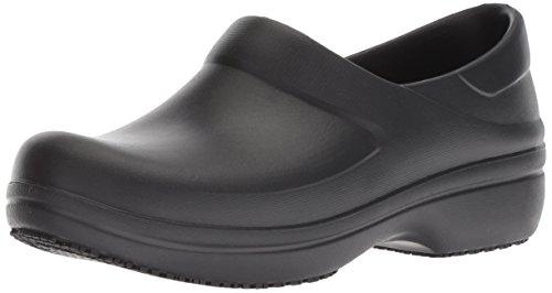 Crocs Women's Neria Pro II Clog, Slip Resistant Work Shoe, Black, W11 M US