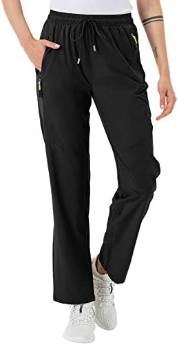 GMTTFOUR Womens Outdoor Hiking Pants Lightweight Quick Dry Cargo Capri Pants Water Resistant UPF 50 Zipper Pockets