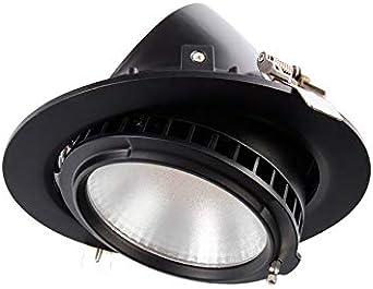 Foco Proyector LED 120lm/W Direccionable Circular Negro 38W LIFUD ...