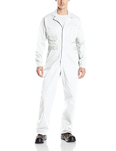 Red Kap Men's Button-front Cotton Coverall, White, 50