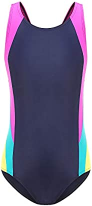 HowJoJo Girls One Piece Racerback Swimsuit Athletic Competitive Swimwear Sports Bathing Suit