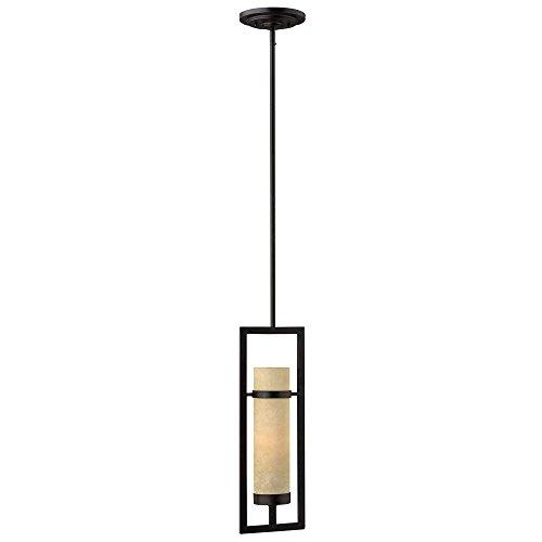 (Hinkley 4097RI Contemporary Modern One Light Pendant from Cordillera collection in Bronze/Darkfinish,)