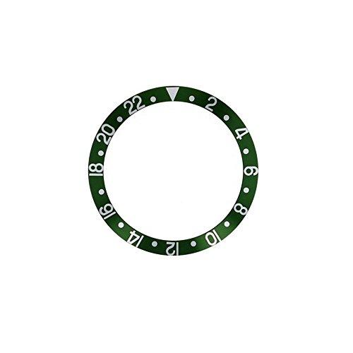 Gmt White Ceramic (Bezel Insert To Fit Rolex Men's GMT - Green / White Ceramic)