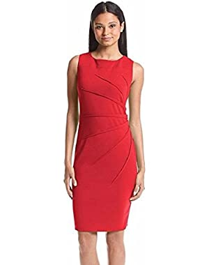 Calvin Klein Women's Starburst Side Rouche Sheath Dress