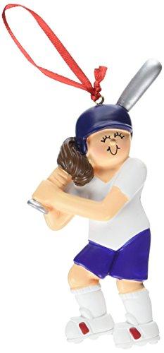 (Ornament Central OC-160-FBR Softball Female Figurine )