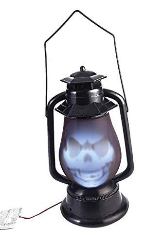Forum Novelties 76842 Party Supplies Light Up Talking Spirit Graveyard Lantern, Black