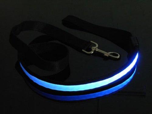 Polypropylene LED Flashing Safety Pet Dog Collar Blue Light - Size S