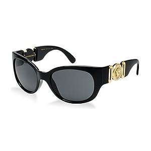 Versace Womens Sunglasses (VE4265) Black/Grey Plastic,Acetate - Non-Polarized - 57mm
