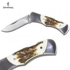 Browning Pursuit Folder Stag Knife