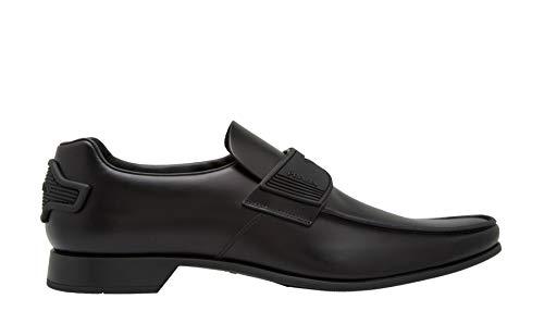 (Prada Men's Spazzolato with Rubber Detail Loafer, Nero (Black) 2DG094 (9 M US))
