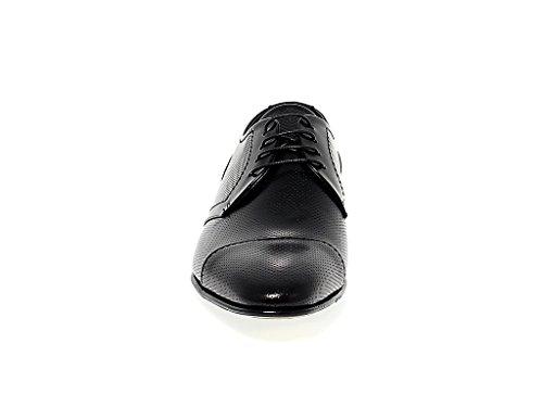 Fabi Mannen Fu8081black Zwarte Leren Veterschoenen